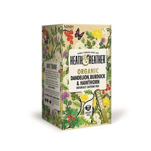 Heath & Heather Organic Dandelion, Burdock & Hawthorn Ø - 20 bre