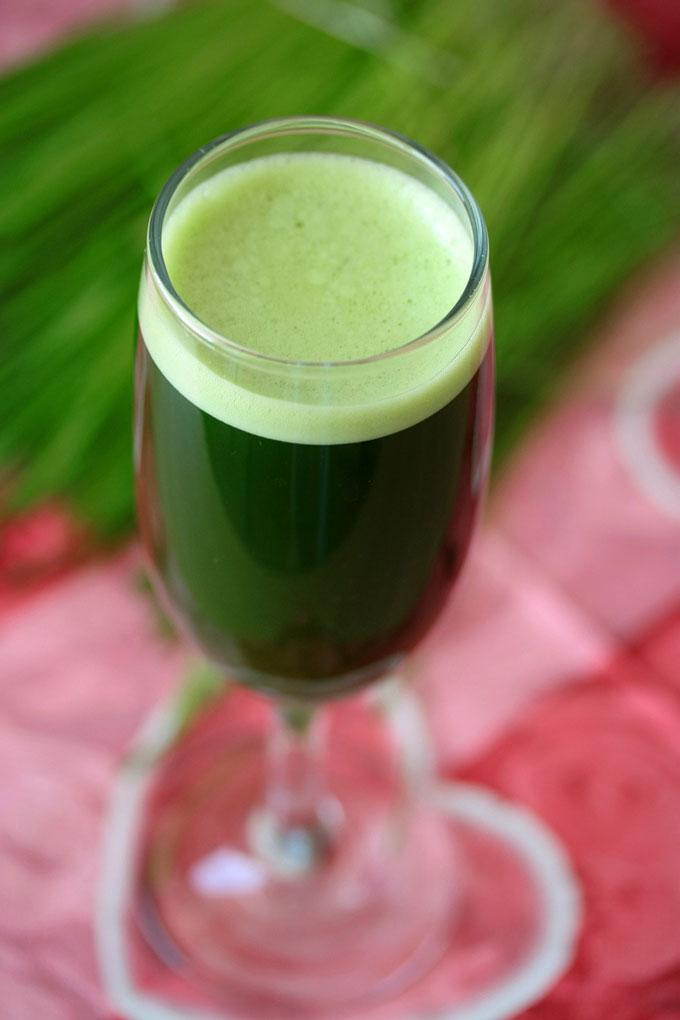 Hvedegræs-juice er både sundt og velsmagende