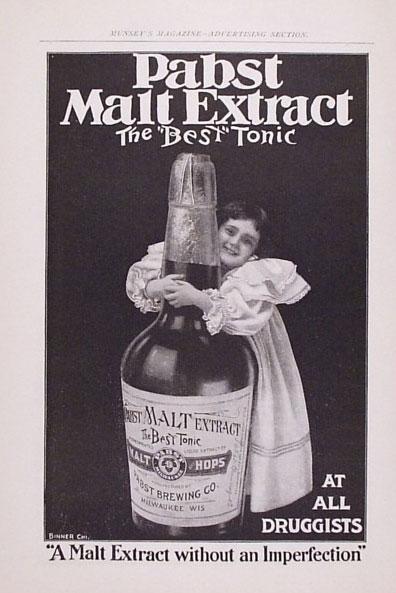 Malt ekstrakt var et udbredt kosttilskud i den første halvdel af 1900-tallet